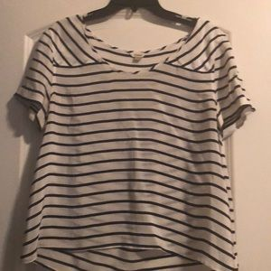 Fossil black and white stripped shirt small